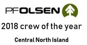 Brolly Logging Crew of the year PF Olsen Harvesting 2018